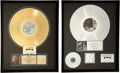 Music Memorabilia:Autographs and Signed Items, Billy Idol Vital Idol (1987) RIAA Gold and CharmedLife (1990) Platinum Record Awards with Backstage P... (Total:7 Items)
