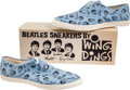 Music Memorabilia:Memorabilia, Beatles Girls Lace-Up Wing Dings Sneakers in Original Box, Never Worn (NEMS, 1964). ...
