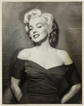 Movie/TV Memorabilia:Autographs and Signed Items, A Marilyn Monroe Signed Black and White Photograph, Circa 1956....