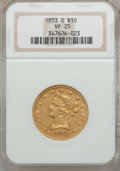 Liberty Eagles: , 1853-O $10 VF25 NGC. NGC Census: (1/220). PCGS Population (1/168).Mintage: 51,000. Numismedia Wsl. Price for problem free ...