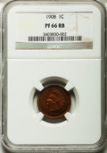 Proof Indian Cents, 1908 1C PR66 Red and Brown NGC....