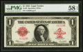 Large Size:Legal Tender Notes, Fr. 40 $1 1923 Legal Tender PMG Choice About Unc 58 EPQ.. ...
