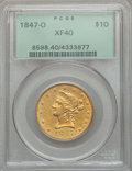 Liberty Eagles: , 1847-O $10 XF40 PCGS. PCGS Population (121/282). NGC Census:(70/608). Mintage: 571,500. Numismedia Wsl. Price for problem ...