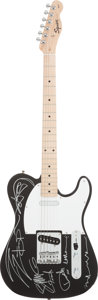 Music Memorabilia:Autographs and Signed Items, ZZ Top Signed Guitar....