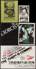 "Movie Posters:Horror, The Exorcist & Others Lot (Warner Brothers, 1974). Program (8.5"" X 11""), Exhibitor Promos (3) (8.5"" X 11"", 9"" X 11.5"", & 11""... (Total: 6 Items)"