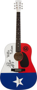 Music Memorabilia:Autographs and Signed Items, Willie Nelson Limited Edition Signed Guitar #2/50....