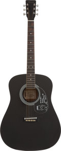 Music Memorabilia:Autographs and Signed Items, The Simpsons - Matt Groening Signed Guitar With Bart SimpsonDrawing....