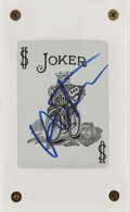 Movie/TV Memorabilia:Autographs and Signed Items, A Heath Ledger Signed 'Joker' Playing Card, Circa 2000s....