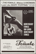 "Movie Posters:Sexploitation, The Female: Seventy Times Seven (Cambist Films, 1968). One Sheet(27"" X 41""). Sexploitation.. ..."
