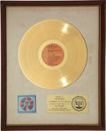"Music Memorabilia:Awards, Elvis Presley - An RIAA Gold Record Award for ""Elvis' GoldenRecords, Vol. 3.""..."