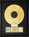 Music Memorabilia:Awards, Beatles 20 Greatest Hits RIAA Gold Record Award (1982). ...