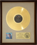 "Music Memorabilia:Awards, Elvis Presley - An RIAA Gold Record Award for ""Elvis' ChristmasAlbum.""..."