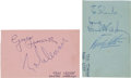 Music Memorabilia:Autographs and Signed Items, Beatles Vintage Autographs on a Pair of Matching Album Pages, CircaLate 1963....