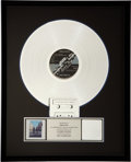 Music Memorabilia:Awards, Pink Floyd RIAA Platinum Record Award for Wish You WereHere....