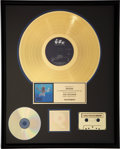 Music Memorabilia:Awards, Nirvana RIAA Gold Record Award for Nevermind....