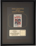 Music Memorabilia:Awards, Beatles RIAA Gold Video Award for The Beatles Live Ready SteadyGo....