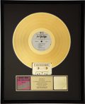 "Music Memorabilia:Awards, The Sex Pistols RIAA Gold Record Award for ""Never Mind theBollocks.""..."