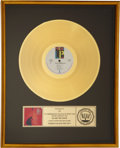 "Music Memorabilia:Awards, U2 RIAA Gold Record Award for ""Under A Blood Red Sky.""..."
