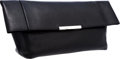 Luxury Accessories:Bags, Celine Black Lambskin Leather Foldover Clutch Bag. ...