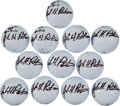 Golf Collectibles:Autographs, 2013 John Peterson Signed Golf Balls Lot of 12....