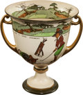 Golf Collectibles:Ceramics/Glass, Golf Themed Royal Daulton Loving Cup. ...