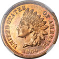 Proof Indian Cents, 1869 1C PR65 Red Cameo NGC....