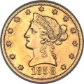 Liberty Eagles, 1858-S $10 -- Reverse Repaired -- NCS. Unc Details....