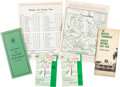 Golf Collectibles:Miscellaneous, 1960's Masters Tournament Publications Lot of 6....