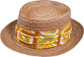 Golf Collectibles:Miscellaneous, Custom Straw Hat By Stetson from The Sam Snead Collection....
