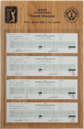 Autographs:Others, 2000 Tiger Woods Signed Personal Scorecards From Win at MemorialLot of 4 with PGA Provenance. ...