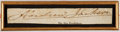 """Autographs:U.S. Presidents, Andrew Jackson Clipped Signature. Measuring 6.5"""" x 1"""", the bold signature has been removed from a larger document and framed..."""
