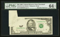 Error Notes:Attached Tabs, Fr. 2124-D $50 1990 Federal Reserve Note. PMG Choice Uncirculated 64 EPQ.. ...
