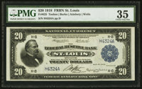 Fr. 825 $20 1918 Federal Reserve Bank Note PMG Choice Very Fine 35