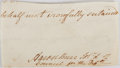 "Autographs:Statesmen, Aaron Burr Clipped Signature. Measures approximately 4.5"" x 2.25"".Removed from a larger document, the clipping bears other ..."