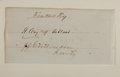 "Autographs:Statesmen, Kentucky Senators Henry Clay and John J. Crittenden Signatures.Signed ""H. Clay of Ashland"" and ""J J Crittenden /Kent..."