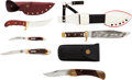 Edged Weapons:Knives, Lot of Five Assorted Fixed and Folding Knives.... (Total: 6 Items)