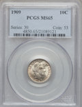 Barber Dimes: , 1909 10C MS65 PCGS. PCGS Population (39/12). NGC Census: (29/9).Mintage: 10,240,650. Numismedia Wsl. Price for problem fre...