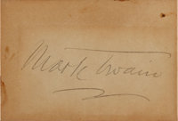 "Mark Twain Signature. Placed on a card measuring 3.25"" x 2.25"""