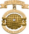 Golf Collectibles:Miscellaneous, 1950 Los Angeles Open Championship Gold Pendant Won by Sam Snead....