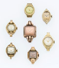 Timepieces:Wristwatch, A Lot Of Seven Lady's Wristwatches For Parts Or Repair. ... (Total: 7 Items)