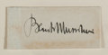 "Autographs:Non-American, Benito Mussolini Signature. Mounted to a backing board to anoverall size of 4"" x 2"". Mussolini (1883-1945), known as Il Duc..."