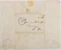 """Miscellaneous:Ephemera, [Slavery]. B. Johnson Autograph Letter Signed. Three pages with integral address leaf, 8"""" 9.75"""", Woodville [Mississippi], Ap..."""