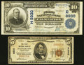 National Bank Notes:Pennsylvania, Palmerton, PA - $10 1902 Plain Back Fr. 626 and $5 1929 Ty. 1 TheFirst NB Ch. # (E)8930 and 8930. ... (Total: 2 notes)