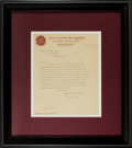 """Miscellaneous:Ephemera, R. J. Black Typed Letter Signed. One page, 8"""" x 10"""" (sight), onToilet Paper Department, United States Envelope Company lett..."""