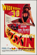 "Movie Posters:Sexploitation, Hot Skin (Jaguar Releasing, 1978). One Sheet (27"" X 41"") 3-D Style.Sexploitation.. ..."