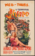 "Movie Posters:Adventure, Jivaro (Paramount, 1954). Window Card (14"" X 22"") 3-D Style.Adventure.. ..."
