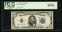 Fr. 1650 $5 1934 Mule Silver Certificate. PCGS Choice About New 58PPQ