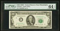 Fr. 2160-C* $100 1950C Federal Reserve Note. PMG Choice Uncirculated 64 EPQ