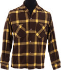 Music Memorabilia:Costumes, Elvis Presley's Plaid Wool Long Sleeved Shirt, Circa 1955....