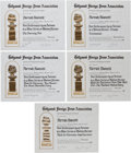 Movie/TV Memorabilia:Awards, A Farrah Fawcett Group of Hollywood Foreign Press Association(Golden Globe) Certificates of Nomination for Various Production...(Total: 5 Items)